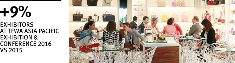 +9% exhibitors at TFWA Asia Pacific and Conference 2016
