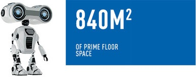 840 m2 of prime floor space