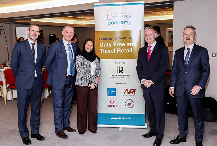 Carlos Granados from Mondelez, Mona al Ali from DDF, Martin Carpenter from ARI and Gerard Murray from DFWC.