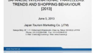 Japanese International Travellers: Trends and Shopping Behaviour (2013)