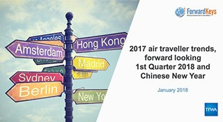 TFWA Monitor: Global 2017 and Q1 2018 travel trends report