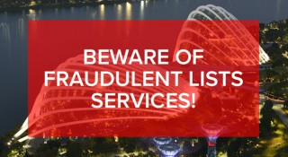 Beware of fraudulent lists services!